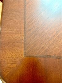 Lovely inlay work. Dark spot is a shadow SET IS PERFECT!!