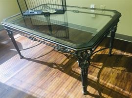 glass top table purchased from Albarados