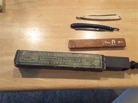 Vintage Barber Tools and Shaver Blades, Shaver Sharpener