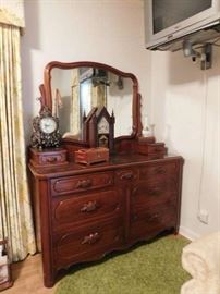 Lillian Russell Double Dresser and Mirror
