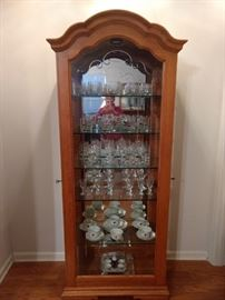 Beautiful curio cabinet.  It opens on both sides and is in excellent condition!