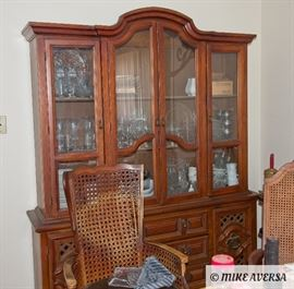 China Cabinet and Dinner Table / Chairs