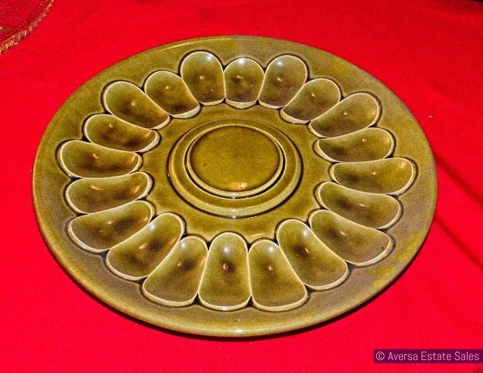 Mid Century Egg Platter