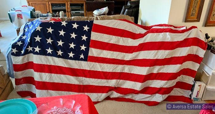 HUGE 9' wide American Flag