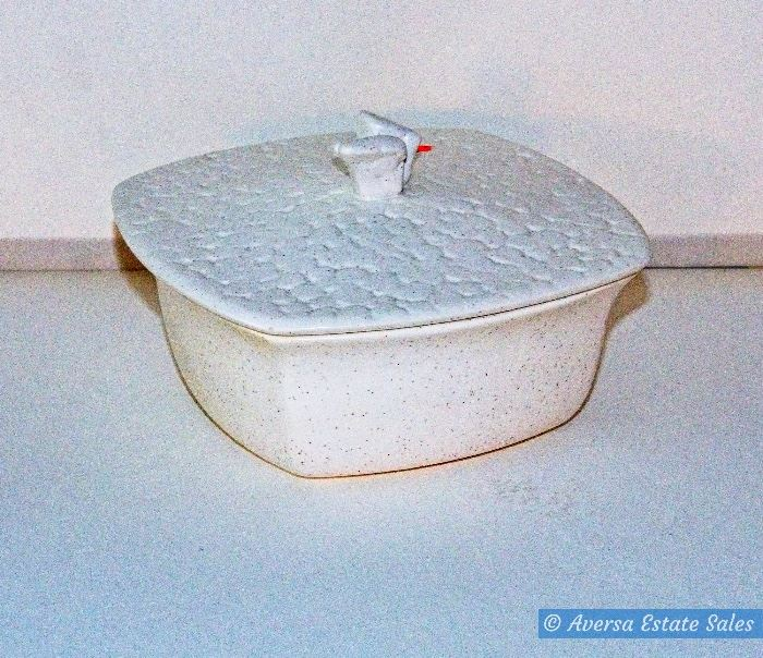 Mid Century SPECKLED Covered Dish