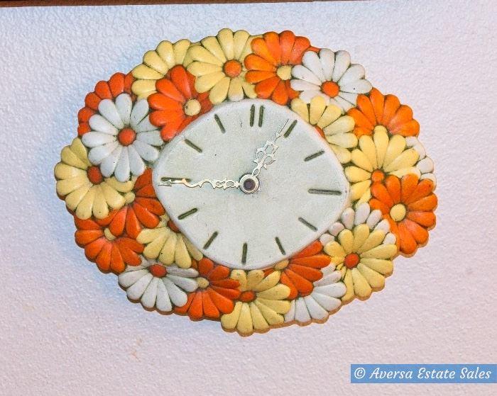 WILD 1960s Daisy Wall Clock
