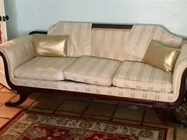 """Victorian Couch 83"""" x 31 1/2"""" x 31 1/2"""" seat"""