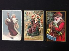 19th C Christmas postcards - 3 of a huge collection