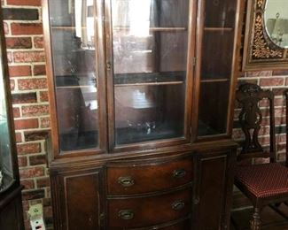 Matching antique china cabinet