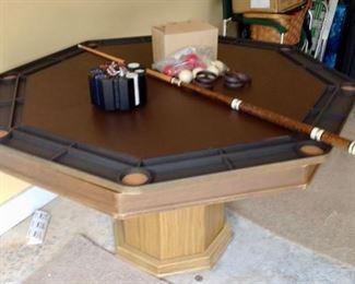 Poker/Bumper Pool Table