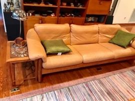 Another view of the Teak/Leather Sofa