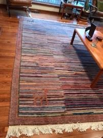 """Gorgeous 8'5"""" X 10'10"""" Area Rug from Nepal.  100% Wool, Hand Woven.  This rug is in excellent condition and comes with the padding."""