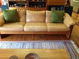 Teak/Leather Sofa