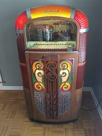 1946 Rock-Ola jukebox.  Beautiful.  Dimensions: 21 x 19 x 38.