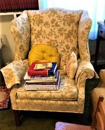 another wing back chair