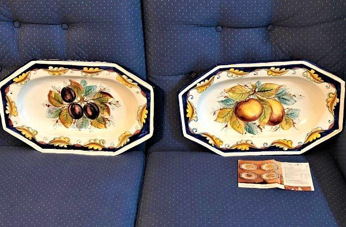 decorative Italian hand painted platters