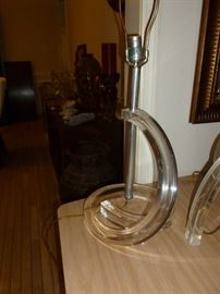 Cool vintage lucite lamp