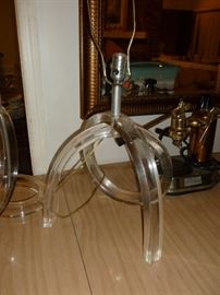 Another vintage lucite lamp
