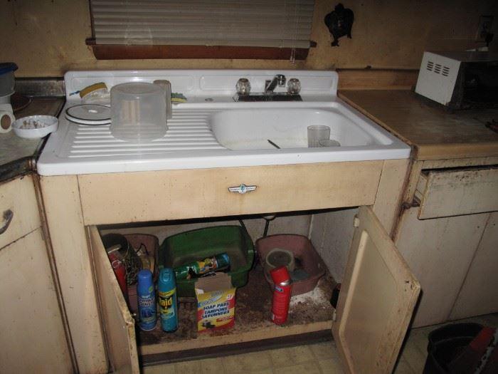 Metal Cupboard including Sink