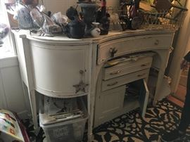 antique furniture, some painted