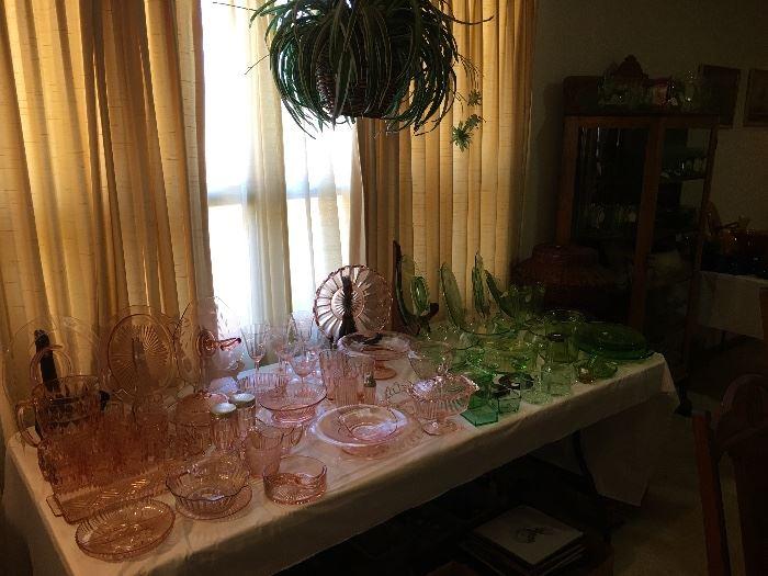Depression & Jeannette / Windsor Diamond Cut Glass