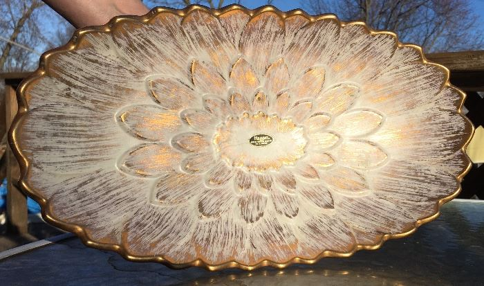 "Haeger 22k Gold Tweed Glaze (16"" x 9"")"