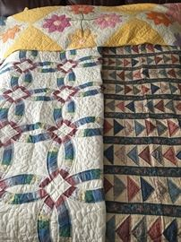 Many Beautiful Hand Stitched Quilts