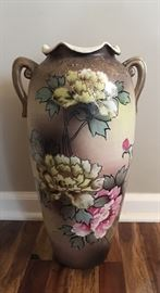 "Oriental Satsuma 19"" Floor Vase (ca. 1900)"