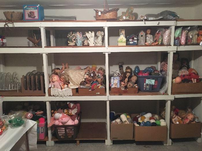 Dolls, Birdhouses,