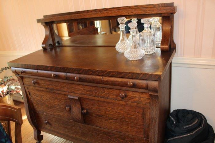 furniture antique buffett sideboard
