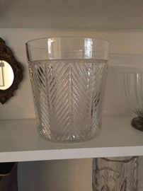 Ralph Lauren crystal champagne ice bucket