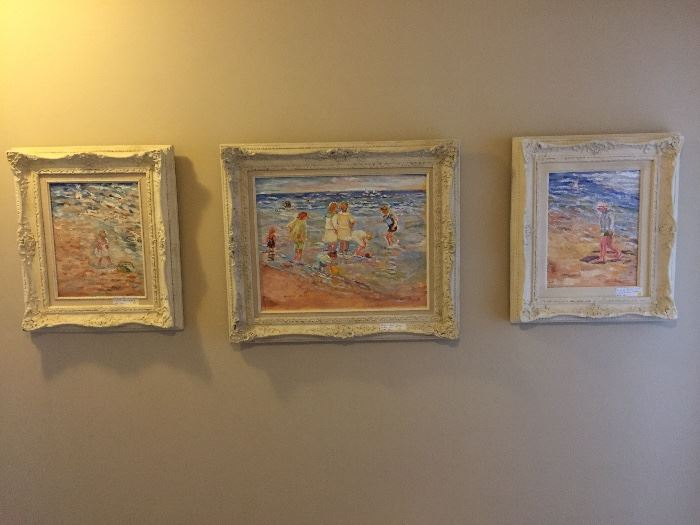 3 original oils on canvas by Lookout Mtn artist Sarah  Moore