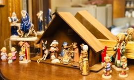 Hummel Christmas figurines and Nativity set