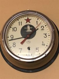 Russian submarine wall clock