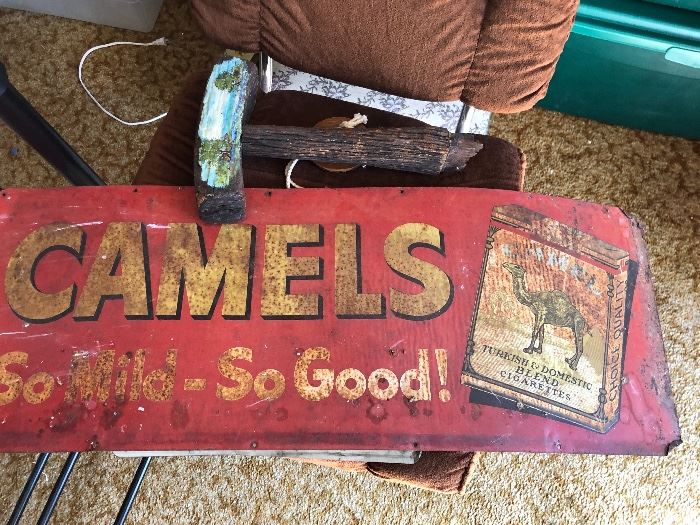 Vintage  camel cigarette Advertising sign