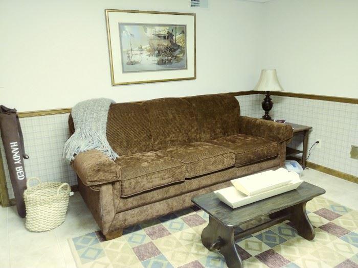 La-z-boy sleeper sofa w/new mattress system