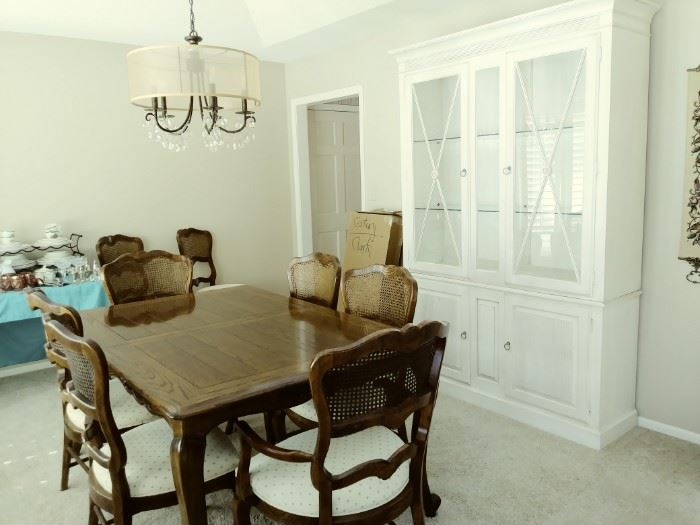 Ethan Allen Hutch, Century dining table and chairs