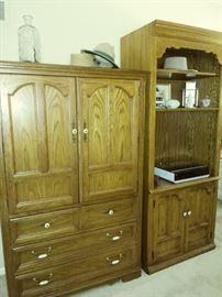 Thomasville armoire, shelf