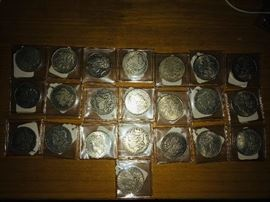Morgan Silver Dollars 1800's to 1921. (Last year of issue)