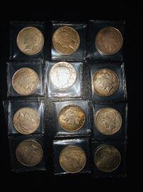 Peace silver dollars 1922 - 1926