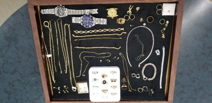 14K and 18K gold jewelry as well as Sterling Silver and Invicta watches