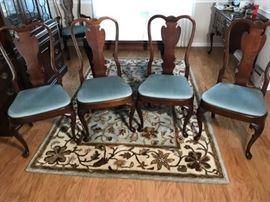 Cherry Wood Dining room chair set https://ctbids.com/#!/description/share/100183