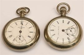 4. Two Open Face Pocket Watches