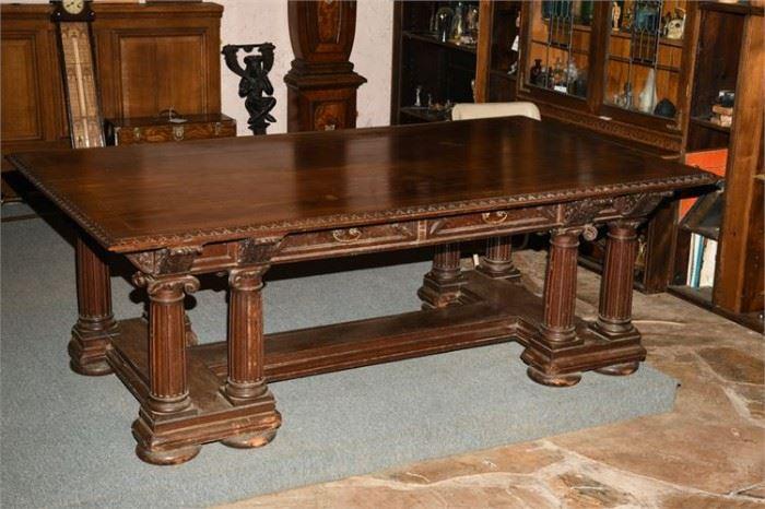3. Antique Mahogany Partners Desk