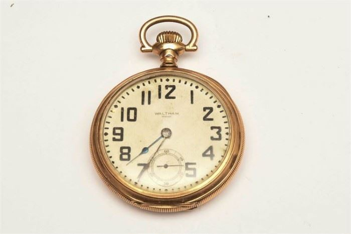 8. Waltham Gold Filled Railroad Watch