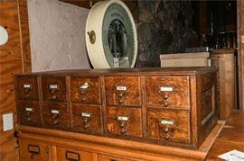 11. 10 Drawer Oak File Cabinet