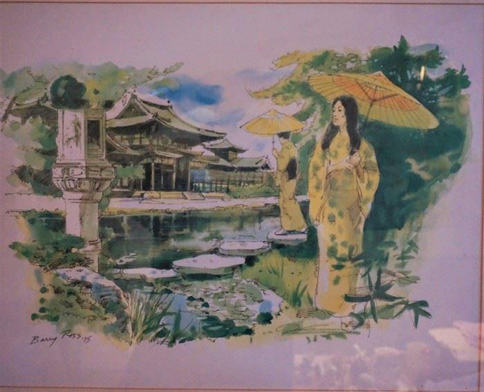 Barry Ross watercolor