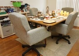 Drop leaf table and dining chairs