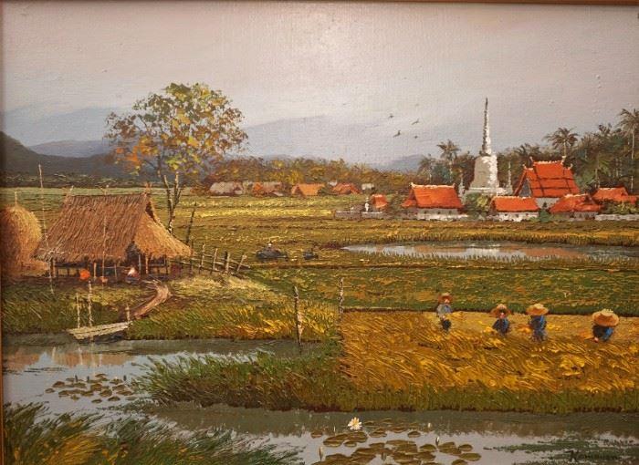 Original painting signed Kamhuan