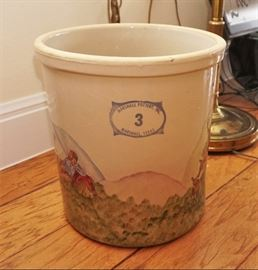 Marshall pottery painted crock